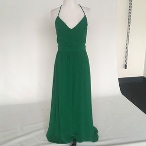 Lulu's Green Backless Maxi Dress